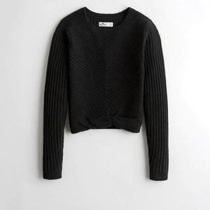 Hollister Black Twist Hem Sweater